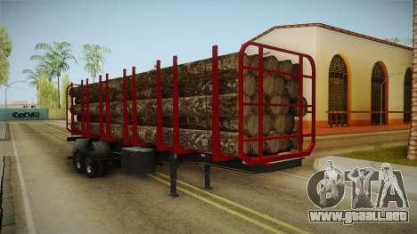 Double Trailer Timber Brasil v2 para la visión correcta GTA San Andreas