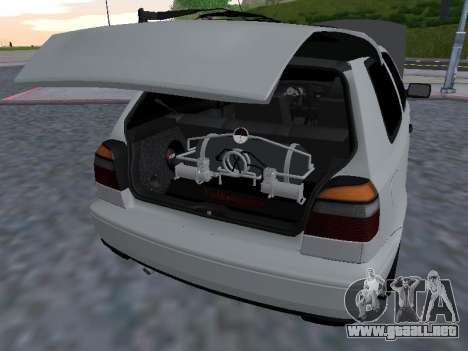 Volkswagen Golf 3 Armenian para vista lateral GTA San Andreas