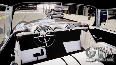 Chevrolet BelAir Sport Coupe 1955 para GTA 4 vista interior