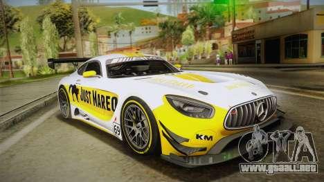Mercedes-Benz AMG GT3 2016 para GTA San Andreas