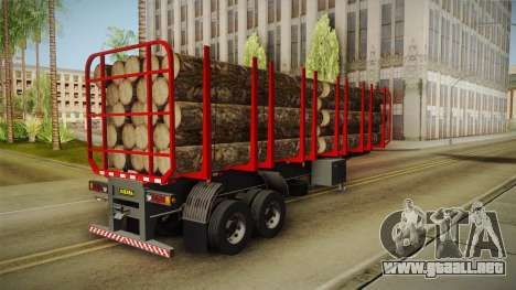 Double Trailer Timber Brasil v2 para GTA San Andreas vista posterior izquierda