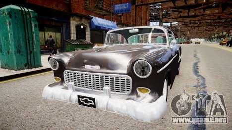 Chevrolet BelAir Sport Coupe 1955 para GTA 4 visión correcta