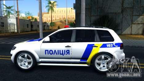 Volkswagen Touareg La Policía De Ucrania para GTA San Andreas left