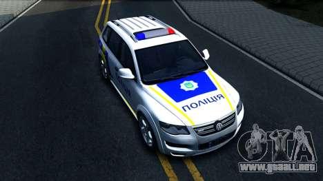 Volkswagen Touareg La Policía De Ucrania para la visión correcta GTA San Andreas