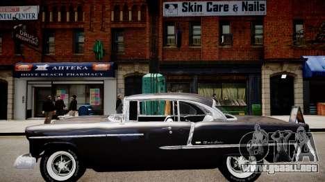 Chevrolet BelAir Sport Coupe 1955 para GTA 4 Vista posterior izquierda