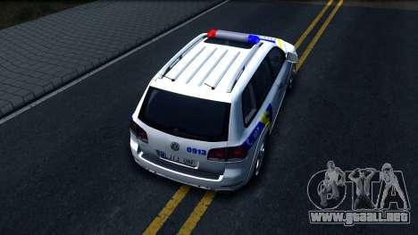 Volkswagen Touareg La Policía De Ucrania para GTA San Andreas vista hacia atrás