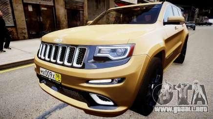Jeep Grand Cherokee SRT8 2015 para GTA 4