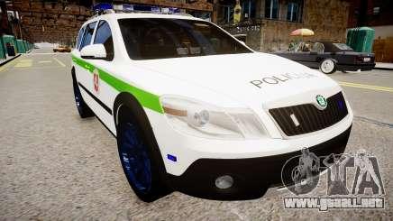 Lithuanian Police Skoda Octavia Scout para GTA 4