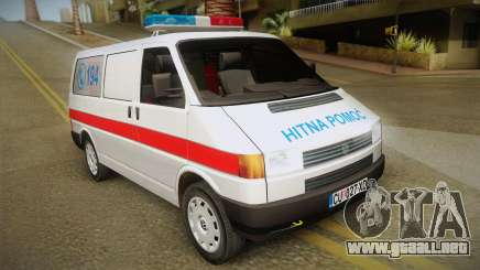 Volkswagen T4 De Ambulancia para GTA San Andreas