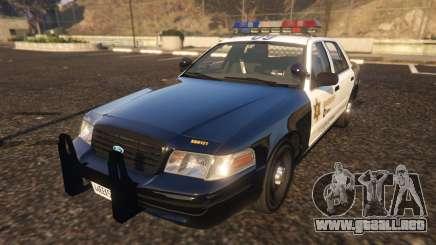 Ford Crown Victoria P71- LA Co. Sheriff 1999 para GTA 5