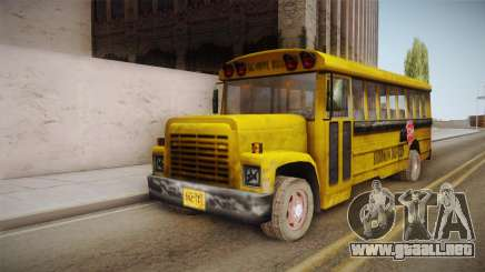 Driver Parallel Lines - School Bus para GTA San Andreas