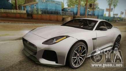 Jaguar F-Type SVR 2016 para GTA San Andreas