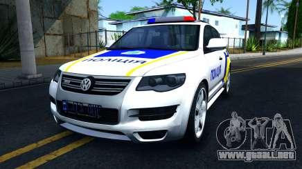 Volkswagen Touareg La Policía De Ucrania para GTA San Andreas