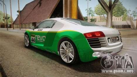 Audi Le Mans Quattro 2005 v1.0.0 YCH Dirt para la vista superior GTA San Andreas