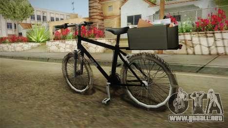 Police Mountain Bike para GTA San Andreas left