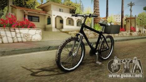 Police Mountain Bike para GTA San Andreas vista posterior izquierda