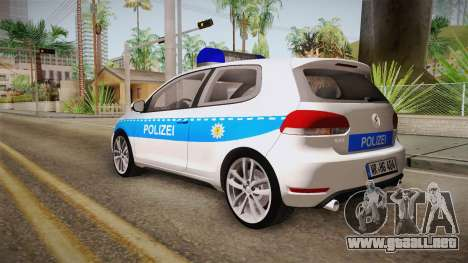 Volkswagen Golf Mk6 Police para GTA San Andreas left