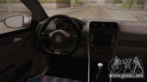Volkswagen Golf Mk6 Police para GTA San Andreas vista hacia atrás