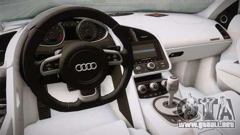Audi Le Mans Quattro 2005 v1.0.0 YCH Dirt para visión interna GTA San Andreas