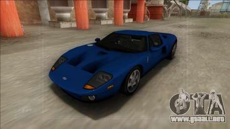 2005 Ford GT para la visión correcta GTA San Andreas