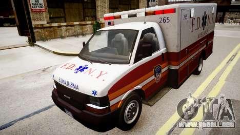 F.D.N.Y. Ambulance para GTA 4