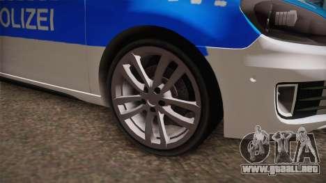 Volkswagen Golf Mk6 Police para la visión correcta GTA San Andreas