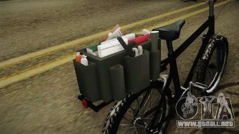 Police Mountain Bike para GTA San Andreas vista hacia atrás
