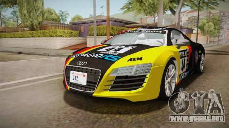 Audi Le Mans Quattro 2005 v1.0.0 YCH Dirt para vista inferior GTA San Andreas