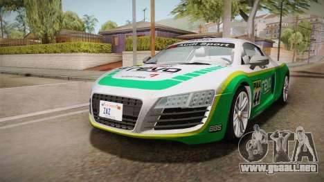 Audi Le Mans Quattro 2005 v1.0.0 YCH Dirt para vista lateral GTA San Andreas