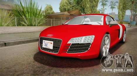 Audi Le Mans Quattro 2005 v1.0.0 YCH Dirt para la visión correcta GTA San Andreas