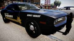 Dodge Challenger Liberty Sheriff 2010 para GTA 4
