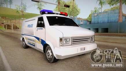 Brute Pony 1992 Metropolitan Police Department para GTA San Andreas