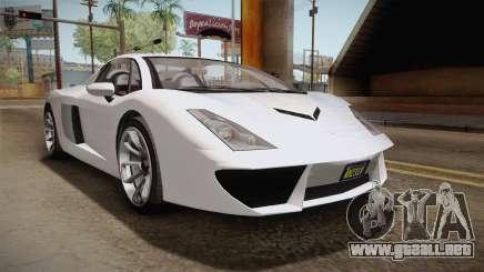 GTA 5 Pegassi Vacca 9F Roadster (Coupe) para GTA San Andreas