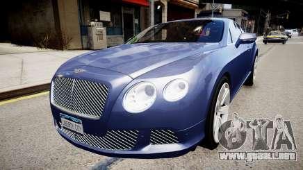 Bentley Continental GT 2011 [EPM] v1.0 para GTA 4