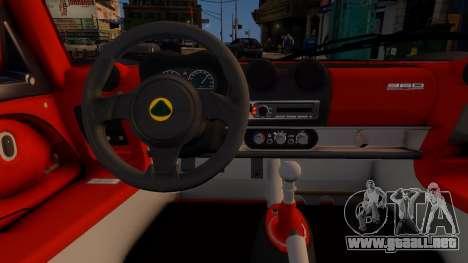 Lotus Exige Cup 360 para GTA 4 vista interior