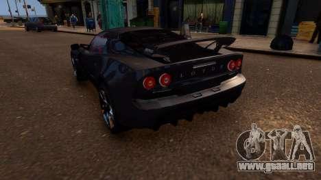 Lotus Exige Cup 360 para GTA 4 Vista posterior izquierda
