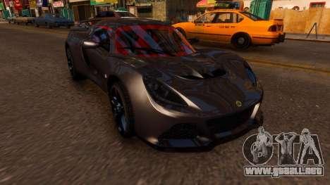 Lotus Exige Cup 360 para GTA 4 visión correcta