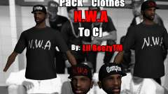 Pack Clothes N.W.A To Cj HD para GTA San Andreas