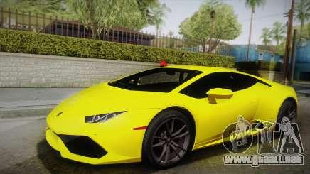 Lamborghini Huracan FBI 2014 para GTA San Andreas