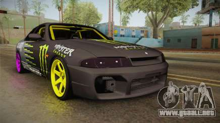 Nissan Skyline R33 Drift Monster Energy Falken para GTA San Andreas