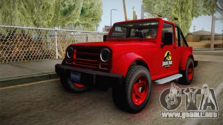 GTA 5 Canis Mesa Jurassic Park para GTA San Andreas