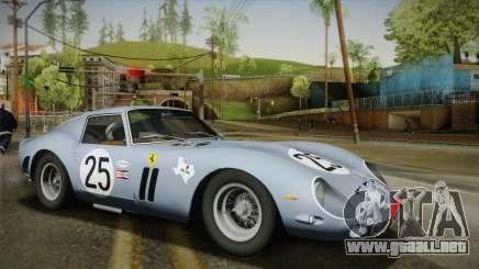 Ferrari 250 GTO (Series I) 1962 IVF PJ2 para GTA San Andreas