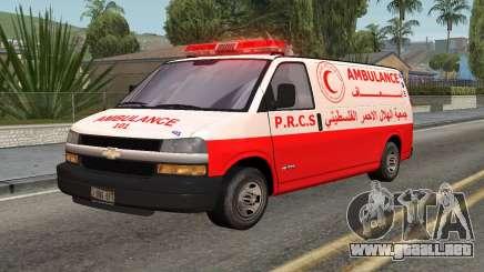 Ambulancia Palestina para GTA San Andreas