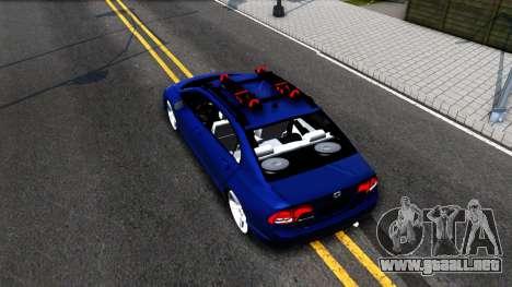 Honda Civic para GTA San Andreas vista hacia atrás