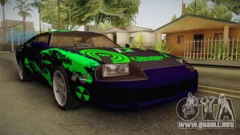 Jester PJ Mutation Drift para GTA San Andreas vista posterior izquierda