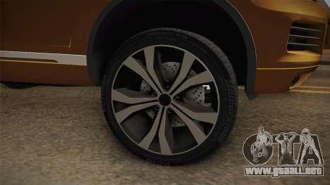 Volkswagen Touareg para GTA San Andreas vista hacia atrás