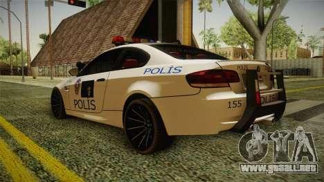 BMW M3 Turkish Police para GTA San Andreas