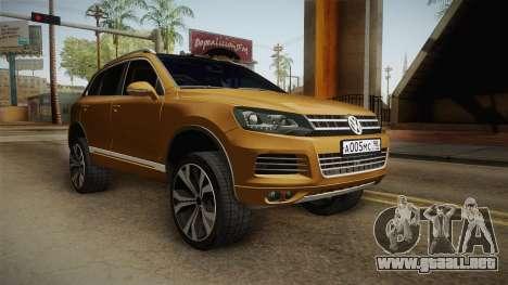Volkswagen Touareg para la visión correcta GTA San Andreas