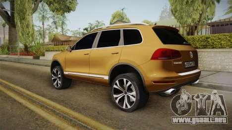 Volkswagen Touareg para GTA San Andreas left