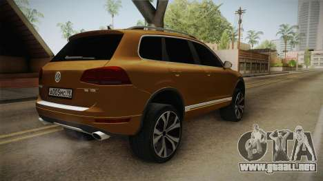 Volkswagen Touareg para GTA San Andreas vista posterior izquierda